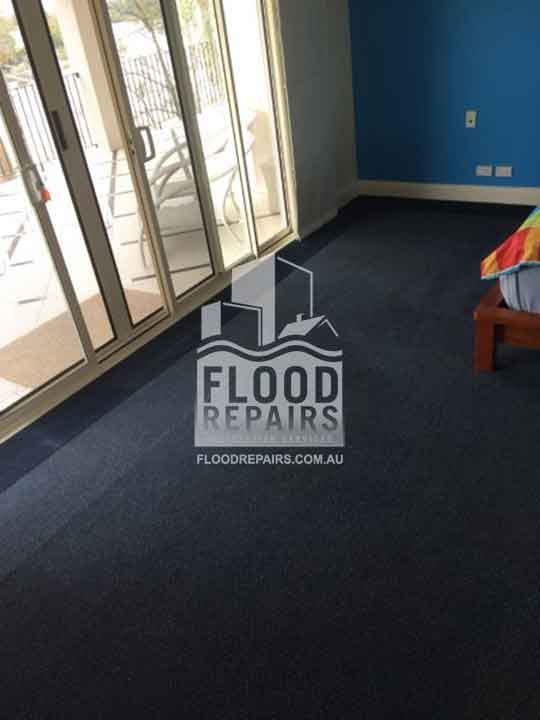 Bayside clean floor after flood repairs work