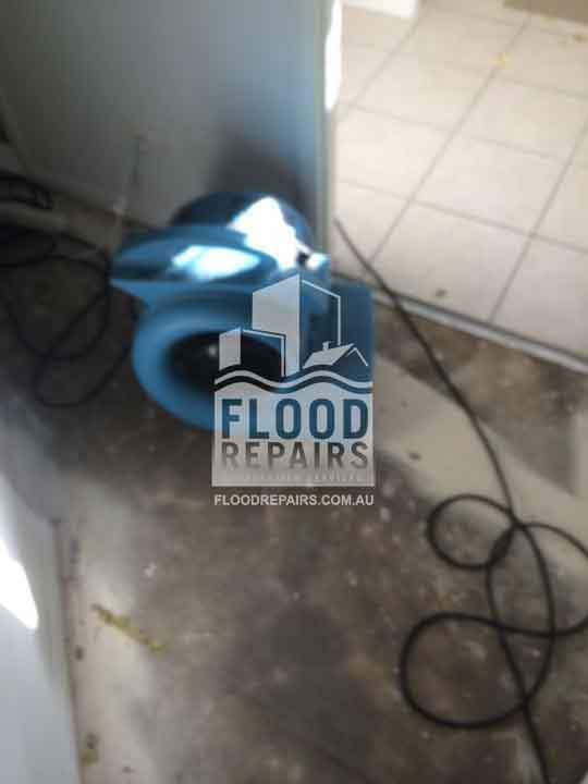 damaged floor after flood water